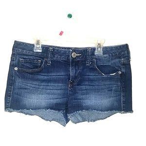 Short Dark Denim Shorts